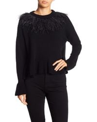 Cinq À Sept - Feathered Wool Blend Pullover Sweater - Lyst
