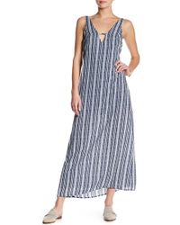 Mimi Chica - Deep V-neck Maxi Slip Dress - Lyst
