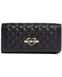 Love Moschino - Large Quilted Wallet - Lyst