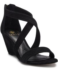Isola - Fia Suede Wedge Sandal - Lyst