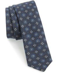Eleventy - Medallion Wool Skinny Tie - Lyst