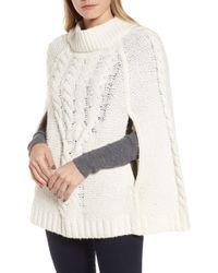 Draper James - Cable Sweater Cape - Lyst