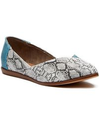 TOMS - Jutti Turquoise Snake Print Leather Snake - Lyst