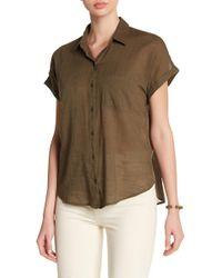 Lucky Brand - Patch Pocket Woven Shirt - Lyst