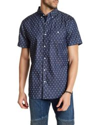 Sovereign Code - Town Short Sleeve Print Regular Fit Shirt - Lyst