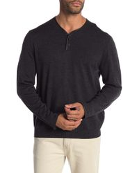 The Kooples - Merino Wool Leather Accent Jumper - Lyst