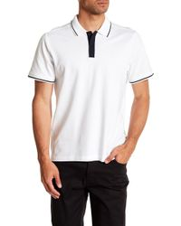 Kenneth Cole - Collared Trim Polo - Lyst