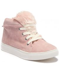 Jaggar - Faux Fur High Top Sneaker - Lyst