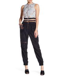 Lime & Vine - Phoenix Mesh Pocket & Leg Paneled Pants - Lyst