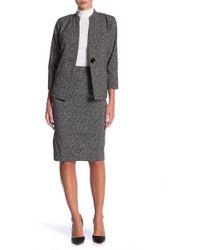 Kasper - Printed Jacquard Slim Skirt - Lyst
