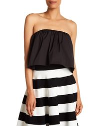 MILLY - Strapless Gathered Top - Lyst