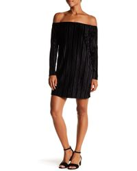 Romeo and Juliet Couture - Off Shoulder Pleated Dress - Lyst