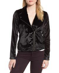 Trouvé - Velvet Moto Jacket - Lyst