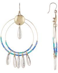 Lucky Brand - Beaded Statement Dangle Earrings - Lyst