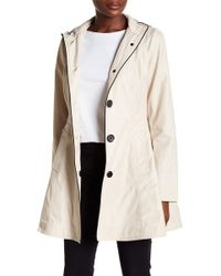 Laundry by Shelli Segal - Bow Back Trench Coat W/ Detachable Hoodie - Lyst