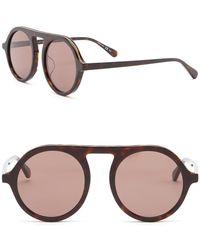 66193b46c81 Stella McCartney - 48mm Chain Modified Aviator Sunglasses - Lyst