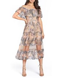 Dress the Population - Gabriella Off-the-shoulder Dress - Lyst