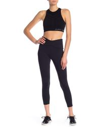 1c56a0035e77d0 Lyst - Charlotte Russe Mesh Ruched Leggings in Black