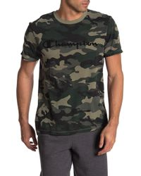9af9c2f3d Champion - Camouflage Crew Neck Short Sleeve Tee - Lyst