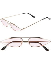 9bf285747b0ea Oliver Peoples Lilla Thin Cat Eye Fashion Glasses in Brown - Lyst