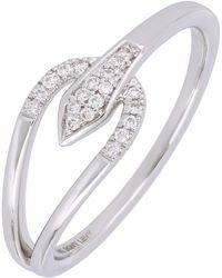 Bony Levy - 18k White Gold Open Shape Diamond Ring - 0.07 Ctw - Lyst