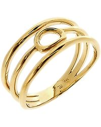 Bony Levy - 14k Yellow Gold Organic Open Circle Triple Row Ring - Lyst