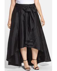 Adrianna Papell - High/low Taffeta Skirt (plus Size) - Lyst