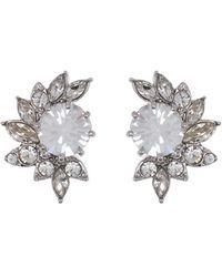 Jenny Packham - Crystal Cluster Stud Earrings - Lyst
