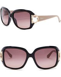 4e23836600 ESCADA Women s Round Sunglasses in Black - Lyst