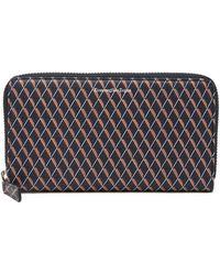 Ermenegildo Zegna - Zip Around Printed Leather Wallet - Lyst