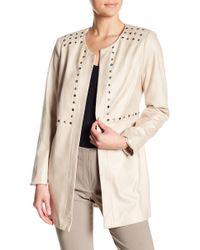 Insight - Eyelet Trim Faux Leather Jacket - Lyst