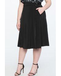 0d0c03325 Lyst - Level 99 Briana Pencil Skirt in Black