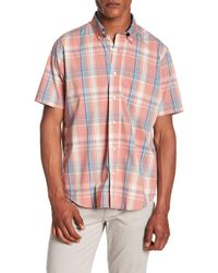 Tailor Vintage - Plaid Print Performance Stretch Shirt - Lyst