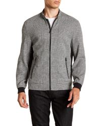 Vince Camuto - Plaid Leno Weave Bomber Jacket - Lyst