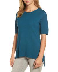 Eileen Fisher | Tencel Knit Top | Lyst