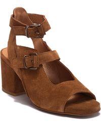 H by Hudson - Rona Suede Block Heel Sandal - Lyst