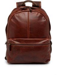 Boconi - Slim Profile Leather Backpack - Lyst