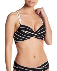 Robin Piccone - Harper Front Twist Knit Trim Bikini Top - Lyst