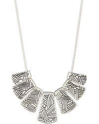 The Sak - Etched Pendant Bib Necklace - Lyst