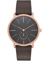 Skagen - Hagen Leather Strap Watch, 40mm - Lyst