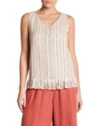 NIC+ZOE - Orchid Fringe Tank Top - Lyst