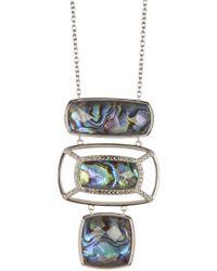 Judith Jack - Sterling Silver Bezel Set Swarovski Marcasite Accented Layered Pendant Necklace - Lyst
