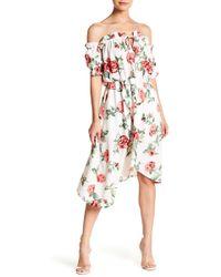 Haute Rogue - Ruffle Accent Floral Dress - Lyst