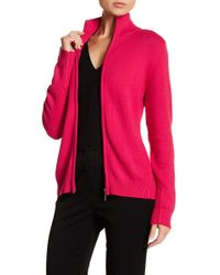 Insight - Mock Neck Zip Front Cardigan - Lyst