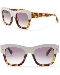 a3264b5f320 Stella McCartney - 49mm Square Sunglasses - Lyst