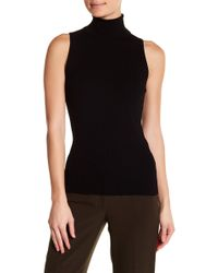 847930d09203b Anne Klein - Sleeveless Ribbed Turtleneck Sweater - Lyst