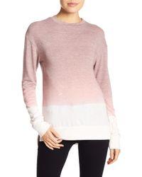 Go Couture - Burnout Hi-lo Hem Sweater - Lyst