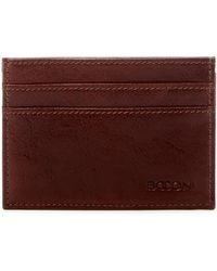 Boconi - Boris Weekend Leather Id Card Case - Lyst