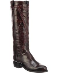 Lucchese - Dora Leather Cowboy Boot - Lyst