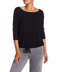 Chaser - Drawstring Hem Knit Shirt - Lyst